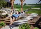 Honeymoon Brazilian Sleeping Hammock In Travel Bag , Seaside Hawaii Tree To Tree Hammock